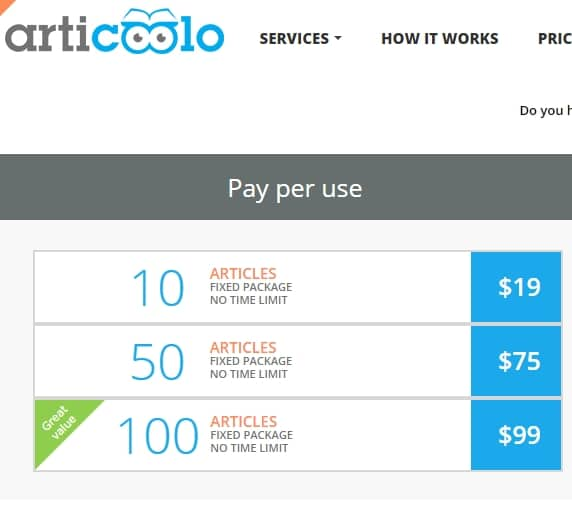 articoolo price