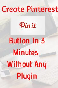 How to create pin it button without any plugin