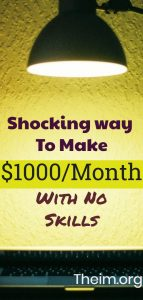 make $1000 per month with no skills