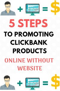 promote clickbank products without website