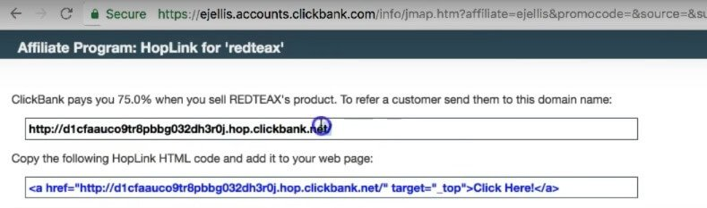 URL on clickbank