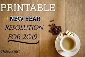 New year resolution 2019