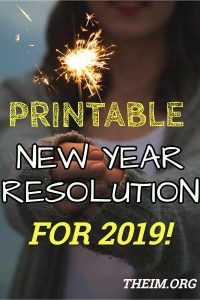 new year printable resolutions