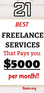 21 best freelance services that can earn upto $5000 per month