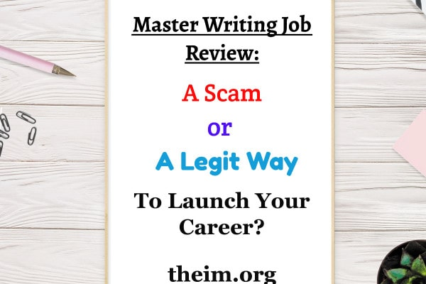 master writing job