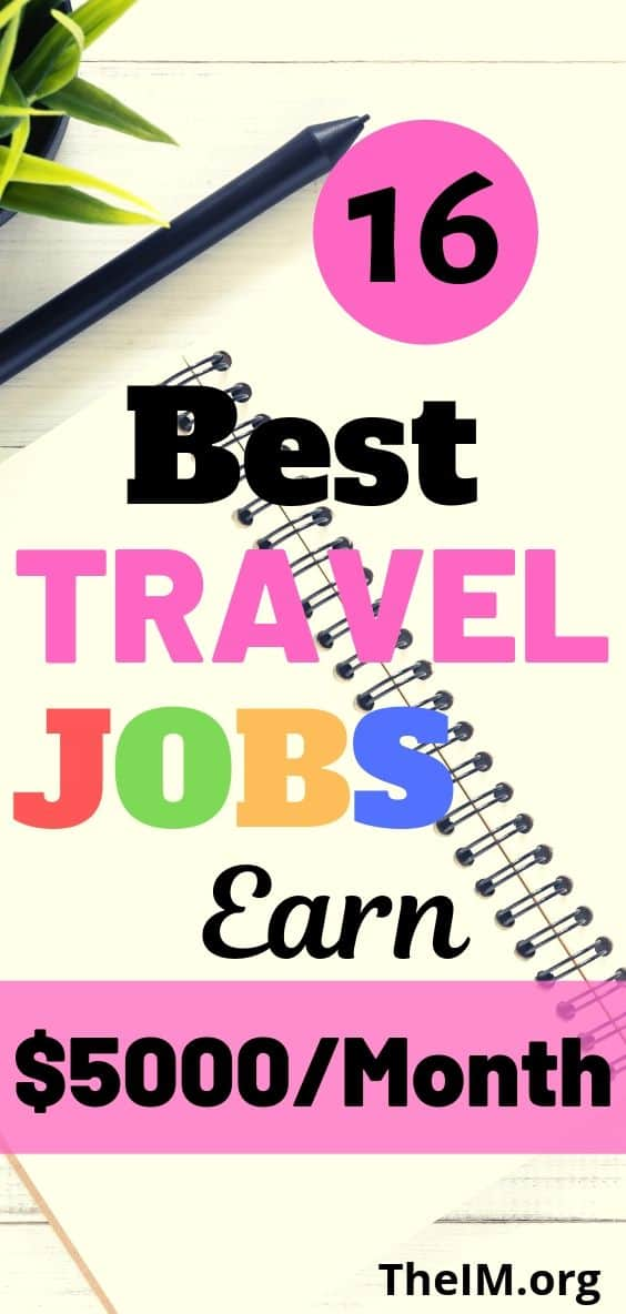 16 Travel jobs