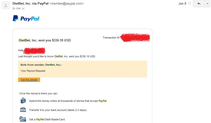 payment proof screenshot