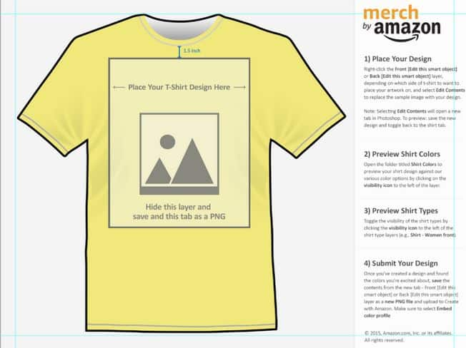 Template of merch with Amazon
