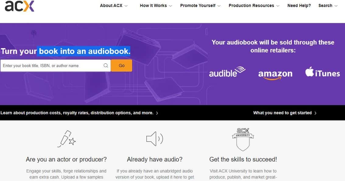 acx webpage screenshot