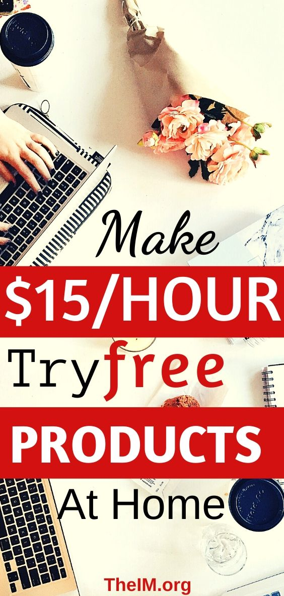 Earn money while testing products
